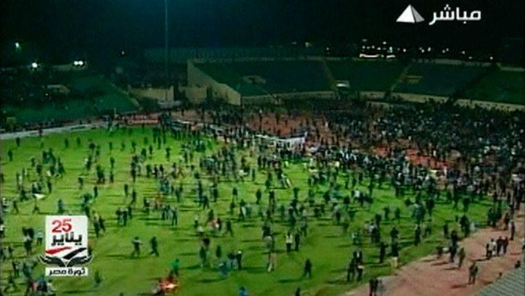 Al Ahli was betrokken in de wedstrijd van 1 februari vorig jaar, waarbij door rellen 73 mensen om het leven kwamen. Beeld REUTERS