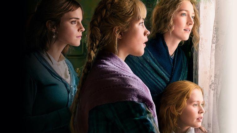 Emma Watson, Florence Pugh, Saoirse Ronan en Eliza Scanlen in 'Little Women'.  Beeld /
