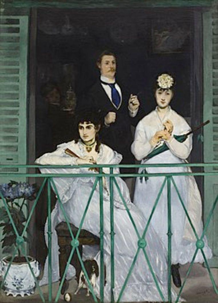 Édouard Manet, Le balcon, 1868-69, Musée D'Orsay Parijs Beeld -