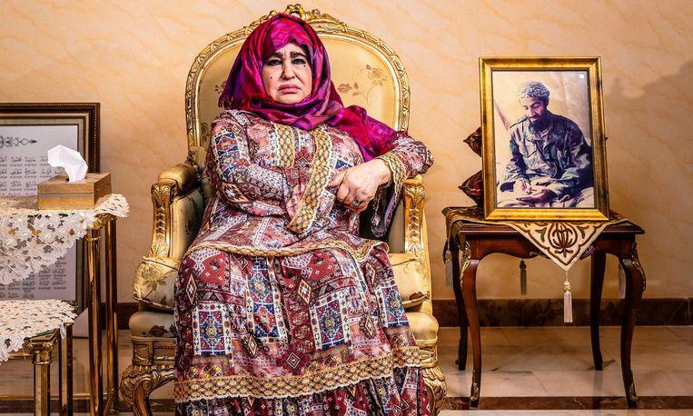 Alia Ghanem, de moeder van Osama bin Laden, thuis in Jeddah, Saudi-Arabië. Beeld RV