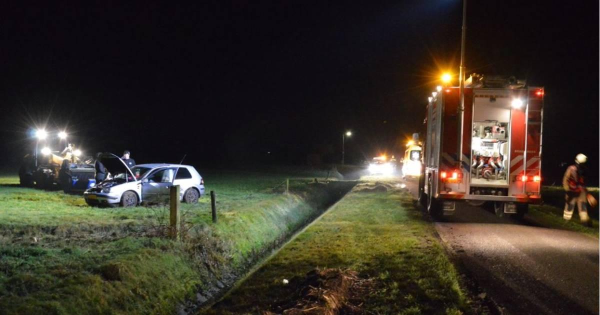 Traumahelikopter naar ongeval in Ruinerwold.