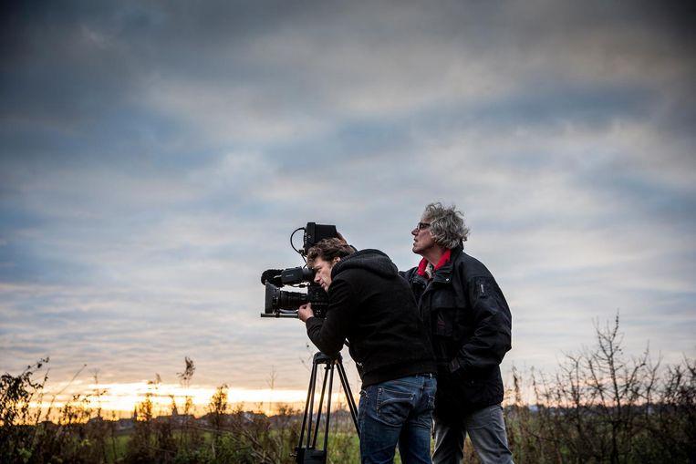 Regisseur Piet Hein van der Hoek met cameraman Arno Cup. Beeld Piet Hein van der Hoek