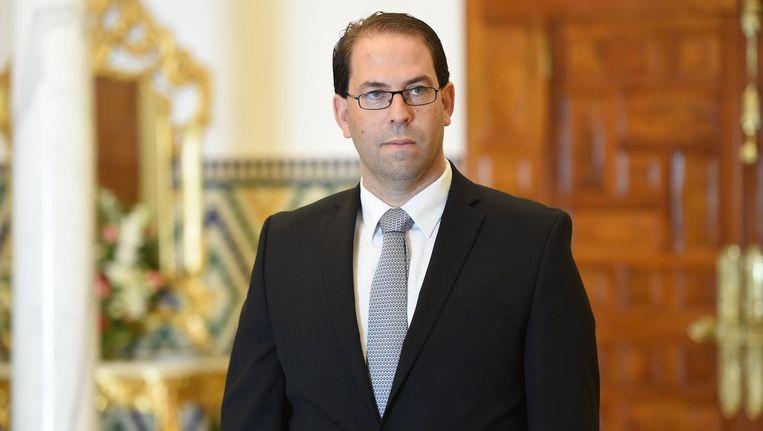 De nieuwe premier Youssef Chahed Beeld afp
