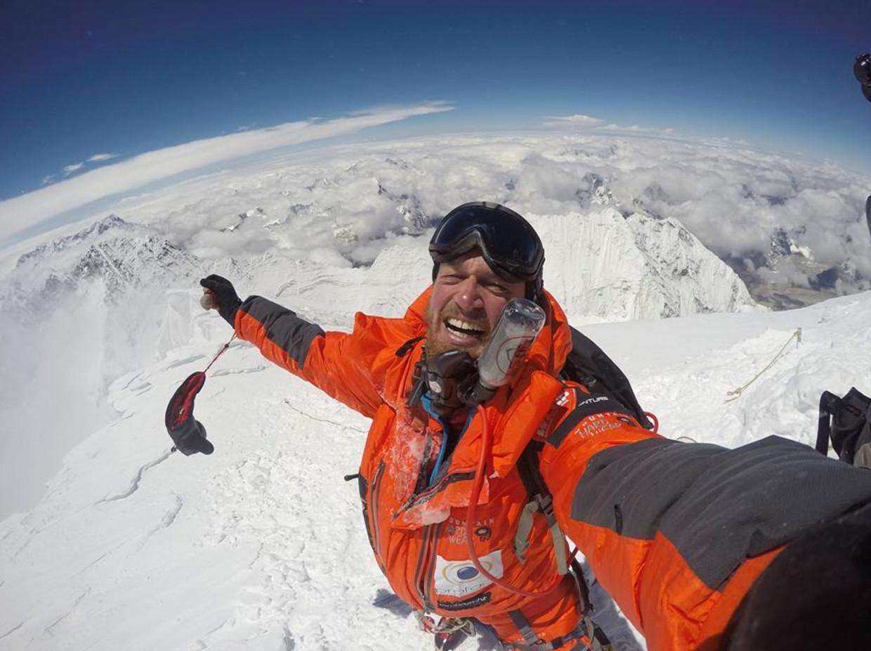 Jelle Veyt op de Mount Everest Beeld Geert De Rycke