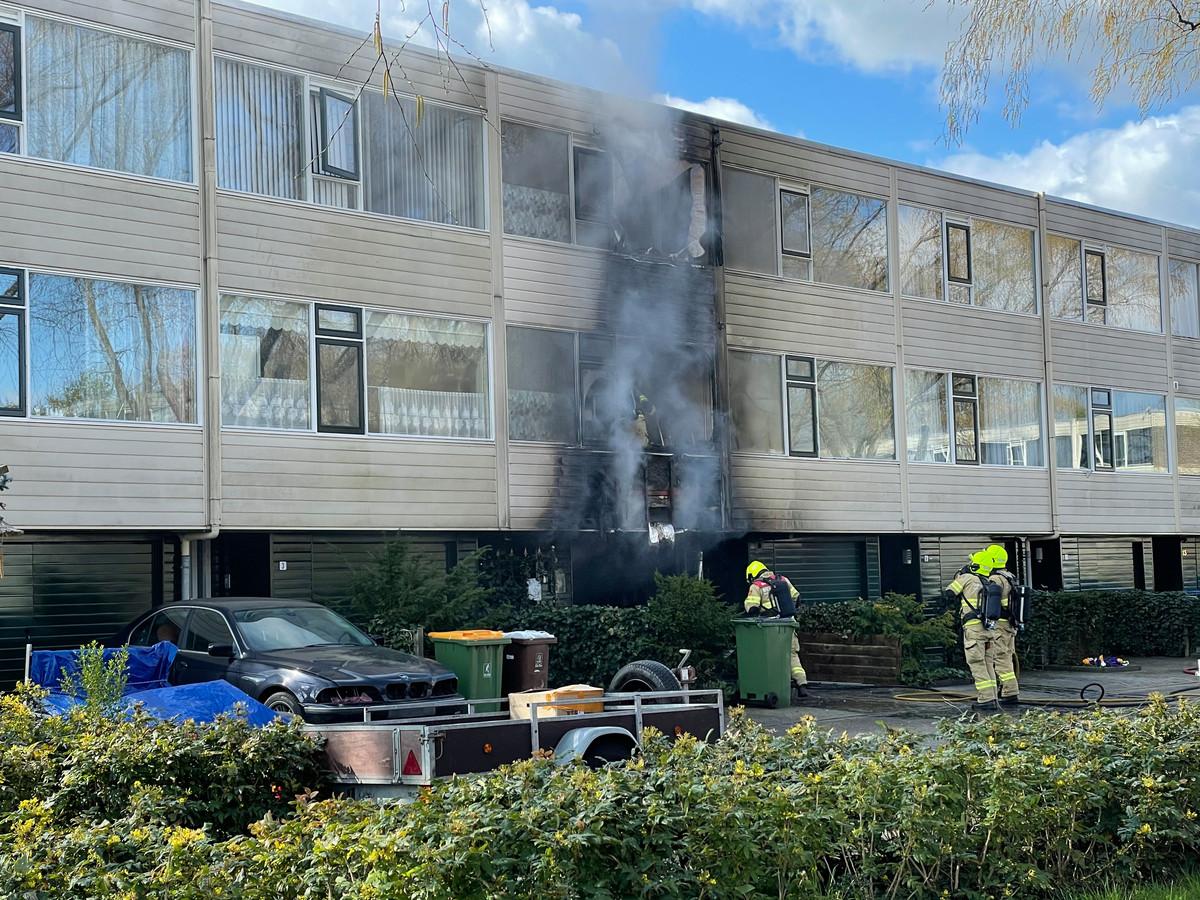 Aan de Nettelhorst in Ede heeft brand gewoed in een woning.