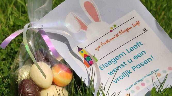 Feestcomité Elsegem Leeft deelt paaseitjes uit