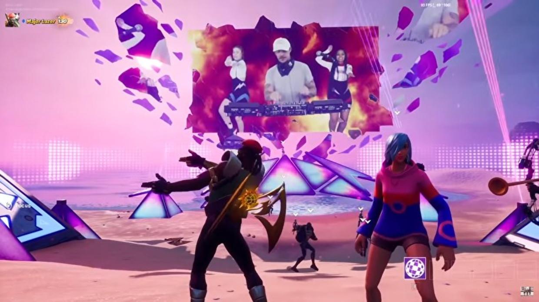 Een optreden van Diplo in Party Royale Beeld Epic Games