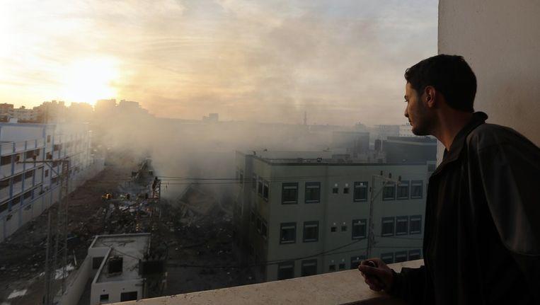 Van het Palestijnse ministerie van binnelandse zaken is niet veel meer over. Beeld reuters