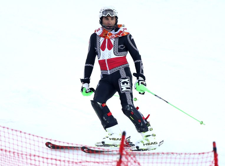SOCHI, RUSSIA - FEBRUARY 22:  Prince Hubertus Von Hohenlohe reacts after crashing out in first run during the Men's Slalom during day 15 of the Sochi 2014 Winter Olympics at Rosa Khutor Alpine Center on February 22, 2014 in Sochi, Russia. (Photo by John Berry/Getty Images) Beeld Getty Images