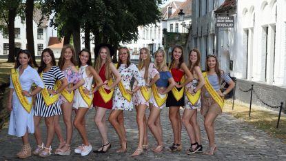 Kandidates Miss België 2019 bezoeken Brugge