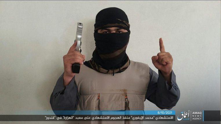 Un videoclip da un sito web dello Stato Islamico.  L'uomo nella foto sarebbe l'autore dell'attacco terroristico a Kunduz.  foto