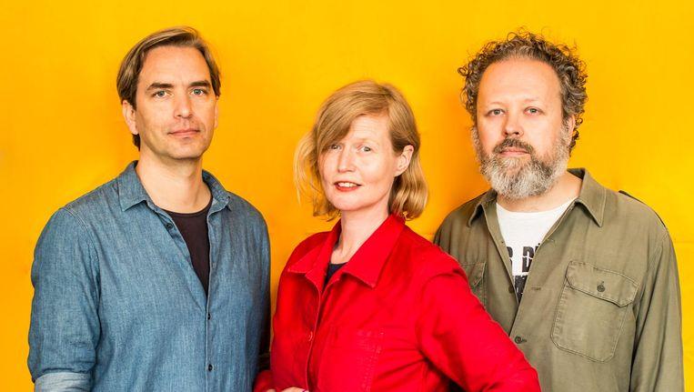 Erwin Brinkers (links), Marieke Stolk en Danny van den Dungen van Experimental Jetse Beeld Eva Plevier