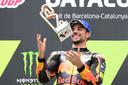 Miguel Oliveira viert zijn overwinning op het Circuit de Catalunya.