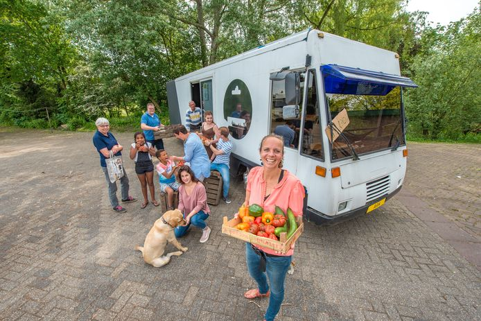 Loes van der Meulen hoopt in september met hulp van vrijwilligers rond te gaan rijden in Arnhem met een SRV-wagen vol groenten en fruit.