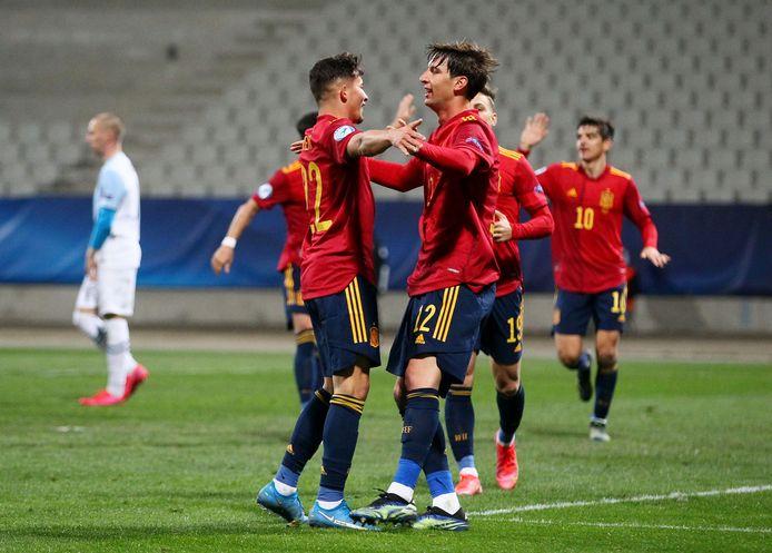 Spanje viert tegen Slovenië.