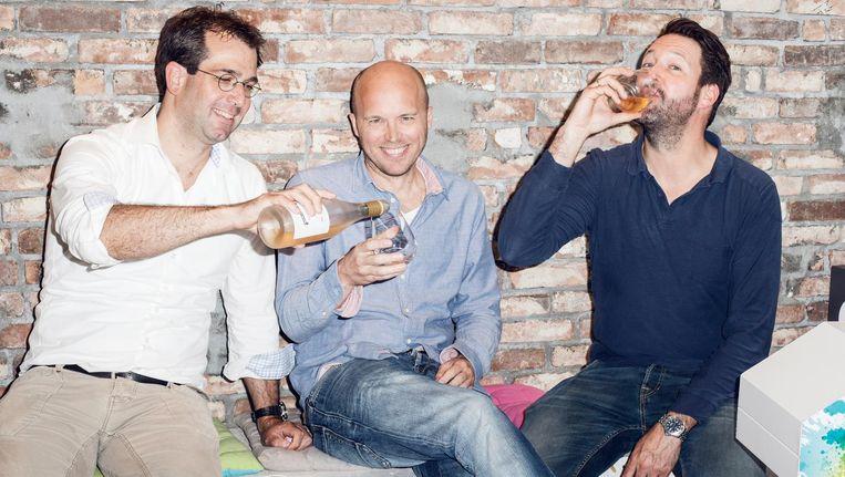 Grapedistrictoprichters Joost Bockwinkel, Gijs Groenevelt en Freek Padberg Beeld Linda Stulic