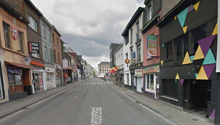 De Overpoortstraat in Gent Beeld Google Streetview