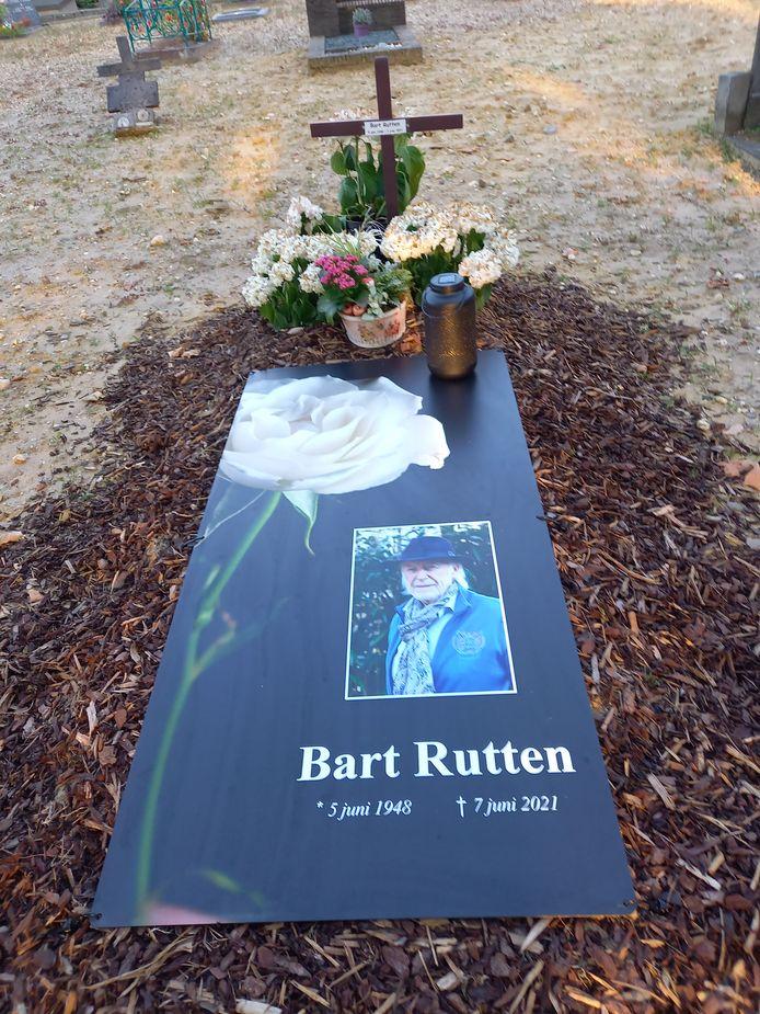 De grafsteen van Bart Rutten