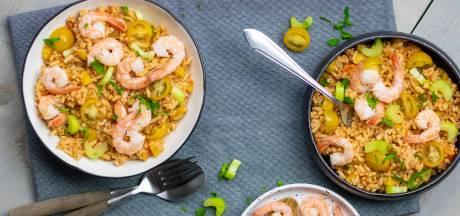 Wat Eten We Vandaag: Gele jambalaya met garnalen