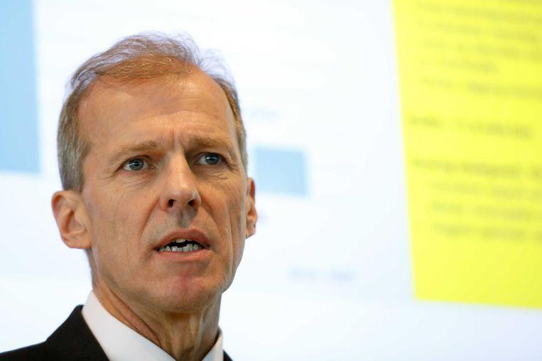 President-directeur Allard Castelein presenteert de jaarcijfers van Havenbedrijf Rotterdam. Beeld ANP