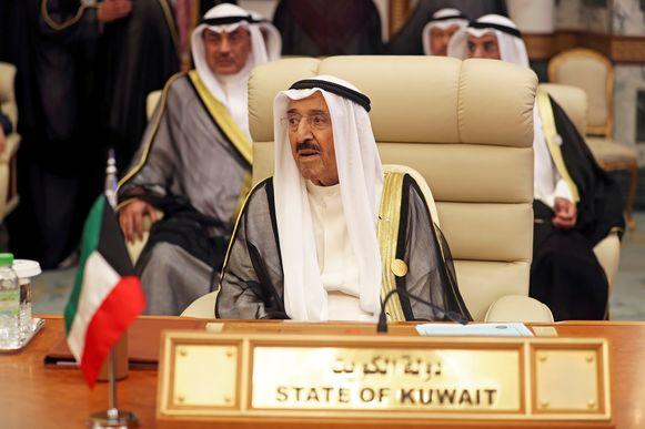 Emir sjeik Sabah al-Ahmad al-Jaber al-Sabah van Koeweit in mei van dit jaar.
