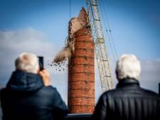 Iconische schoorsteen in Puttershoek krijgt vandaag keihard de sloopkogel