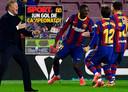 Barcelona in extase na de goal van Ousmane Dembélé.