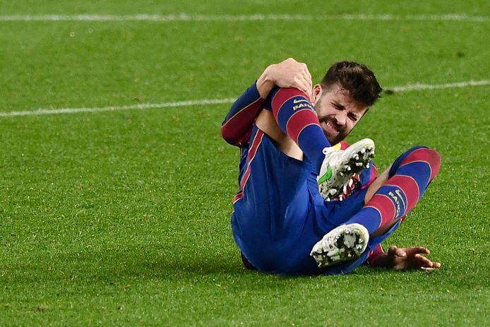 Gerard Pique maakte gisteren in de laatste minuut de 2-0, waardoor Barcelona een verlenging afdwong tegen Sevilla.