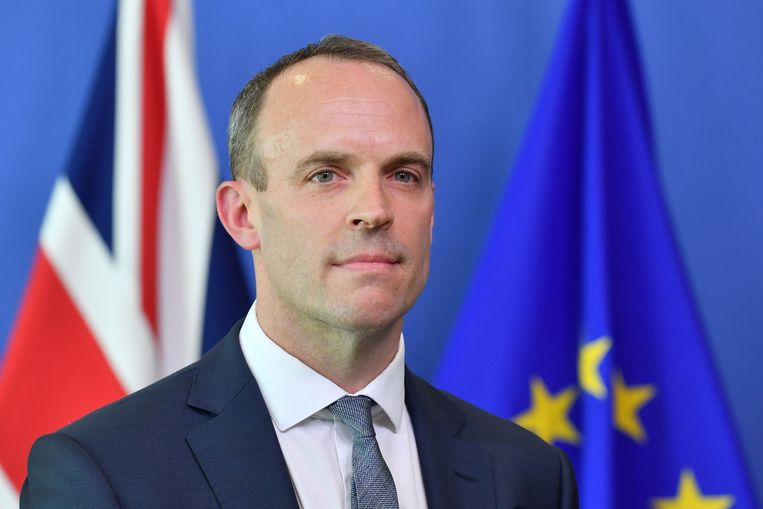 Brexitminister Dominic Raab. Beeld AFP