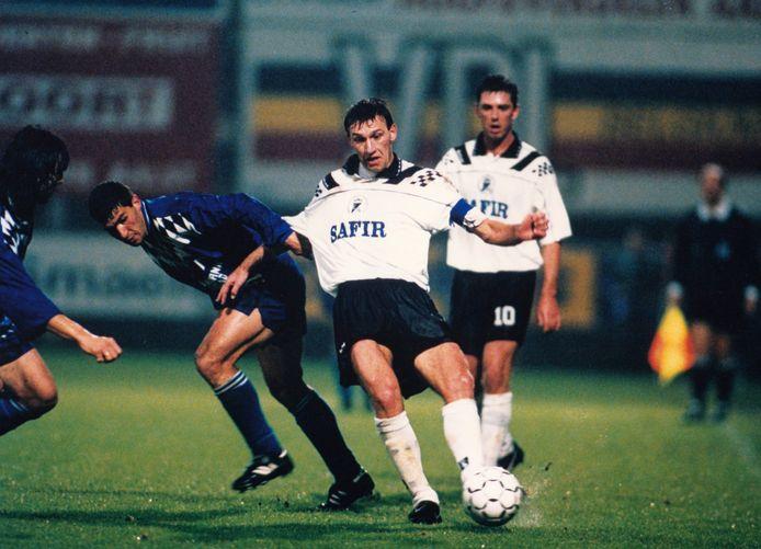 Peter Van Wambeke met Aalst tegen Levski Sofia.