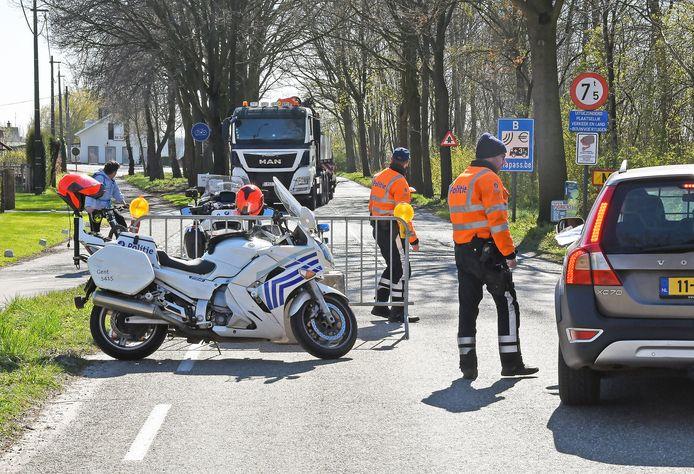 Controles afgelopen voorjaar aan de Belgische grens.