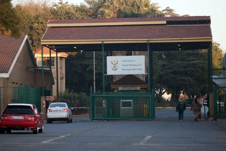 De gevangenis waar Oscar Pistorius momenteel verblijft. Beeld EPA