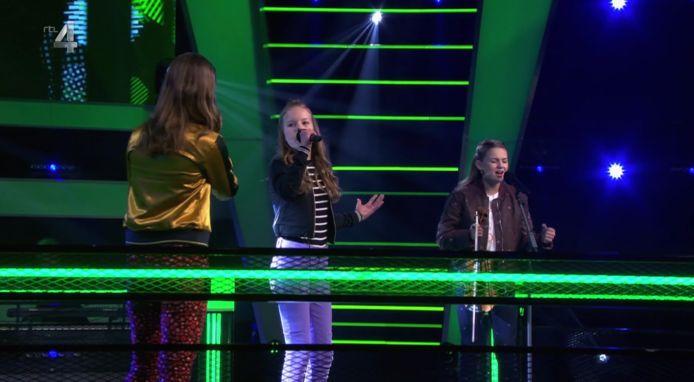 Celia, Linn en Bente in de battles van The Voice Kids