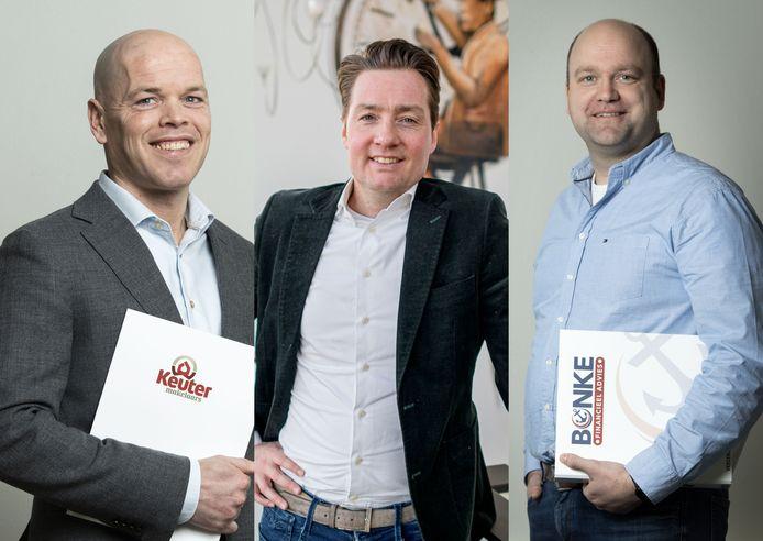 Tom Horstman, Robbert Kenkhuis en John Bonke.