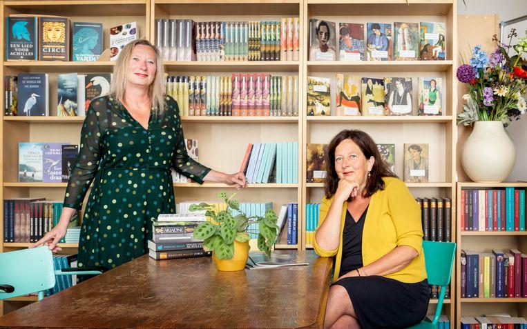 Jacqueline Smit en Ingrid Meurs van Uitgeverij Orlando. Beeld Pauline Niks