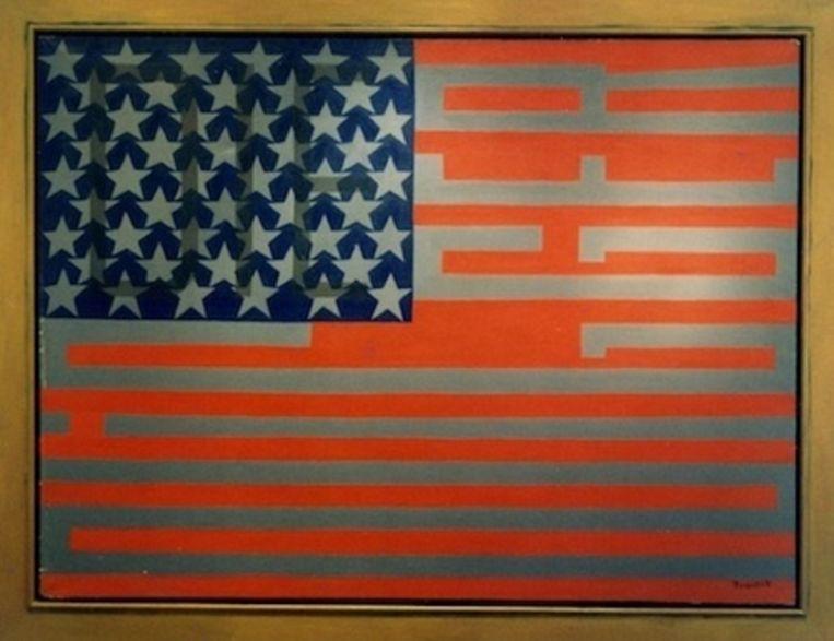 Faith Ringgold, Black Light #10: Flag for the Moon: Die Nigger (1969) Beeld Pictoright Amsterdam