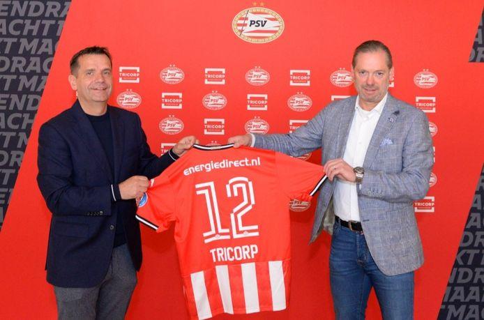 Commercieel directeur Frans Janssen van PSV en financieel directeur Ruud Kuijpers van Tricorp.