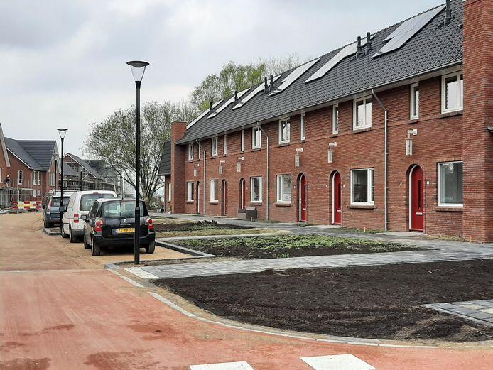 De sociale huurwoningen aan de Henk Blankestijnstraat.