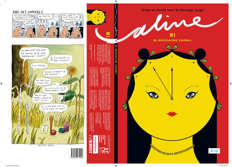 Aline, een tijdschrift voor de eeuwige jeugd, met Wasco als hoofdredacteur. Beeld