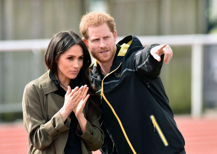 Prins Harry met echtgenote Meghan Markle