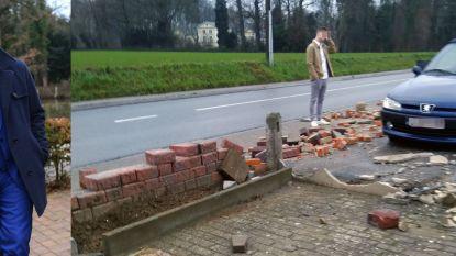 """Koppel ziet hoe muurtje achtste keer in stukken wordt gereden: """"Geen plaats voor straatracers in Lubbeek"""""""