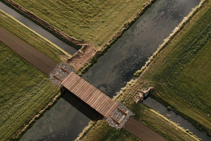 Impressie van de Spoorloper vanuit de lucht.