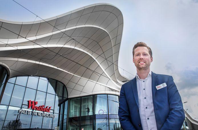 Johan van Doorn, shopping center manager van de nieuwe Westfield The Mall of the Netherlands in Leidschendam. Met veel ervaring bij V&D en voormalig centrummanager van het Stadshart van Zoetermeer.