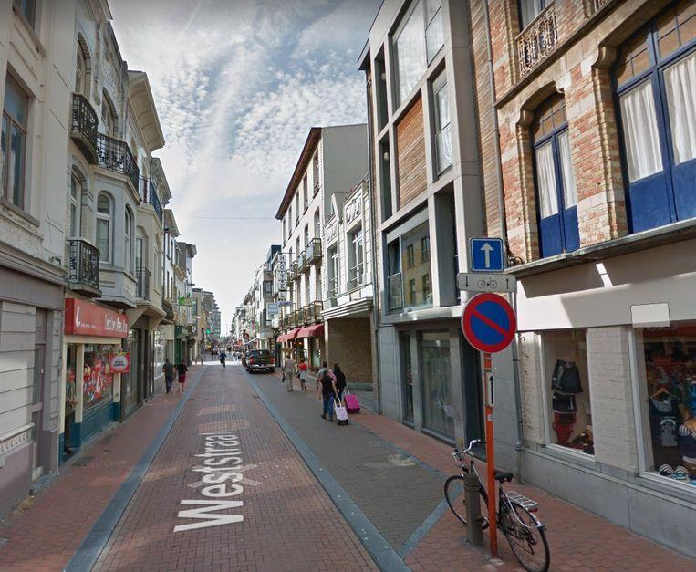 De Weststraat in Blankenberge.