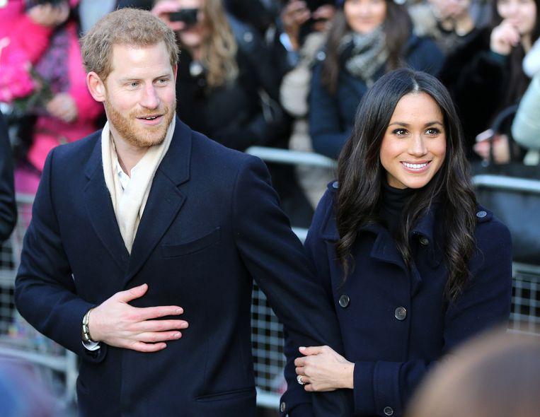 Prins Harry en zijn verloofde Meghan Markle