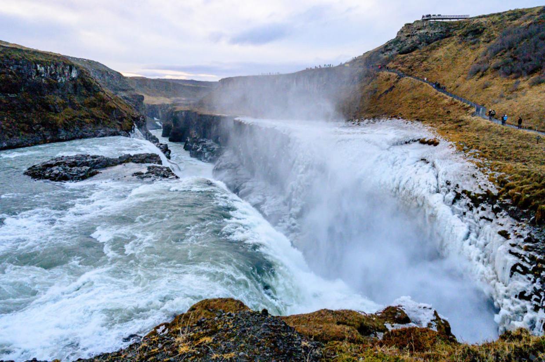 De iconische Gullfoss-waterval in IJsland. Beeld NurPhoto via Getty Images