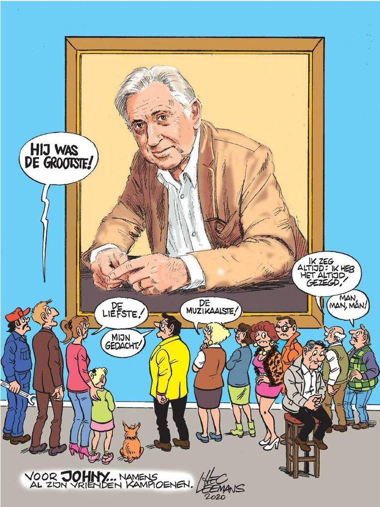 Tekenaar Hec Leemans eert goede vriend met een adieu in stripvorm.