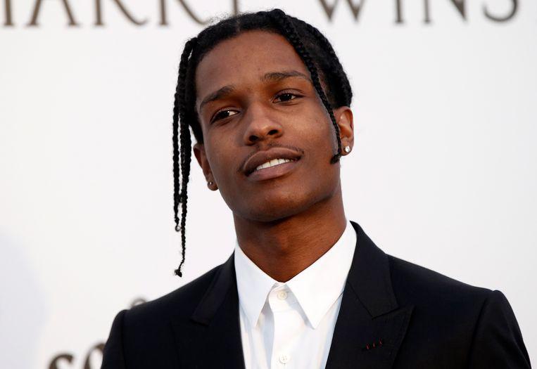 De Amerikaanse rapper A$AP Rocky. Beeld EPA
