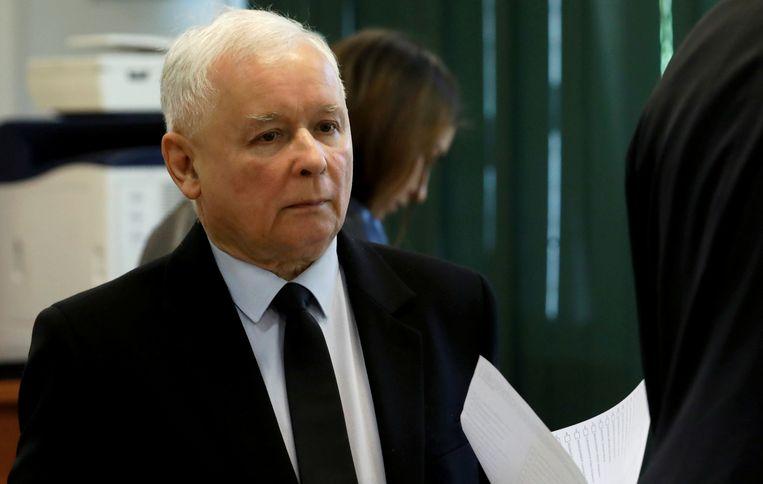 Vicepremier Jaroslaw Kaczynski. Beeld REUTERS