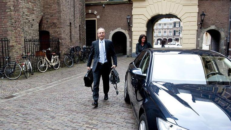 Minister Kamp arriveert aan het Binnenhof in Den Haag. Beeld anp